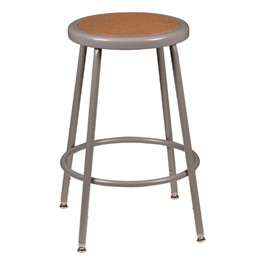"Metal Lab Stool - Adjustable Height (24 1/2"" - 32 1/2\"" H)"
