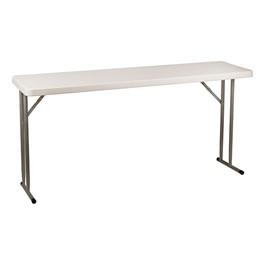"Blow-Molded Plastic Folding Training Table (18\"" W x 60\"" L)"
