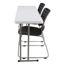 Blow-Molded Plastic Folding Training Table w/ Ballard Plastic Stack Chairs