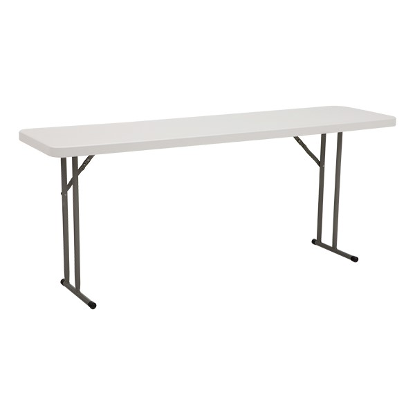 "Blow-Molded Plastic Folding Training Table (18"" W x 72"" L)"