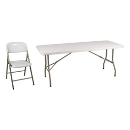 Blow-Molded Plastic Folding Table & Chair Set