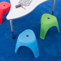 Assorted Color Indoor/Outdoor Plastic Stack Stool