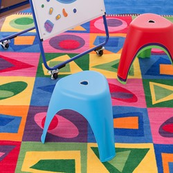 Assorted Color Indoor/Outdoor Stacking Stool