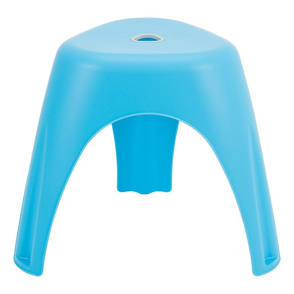 Assorted Color Indoor/Outdoor Plastic Stack Stool - Blue