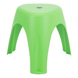 Assorted Color Indoor/Outdoor Plastic Stack Stool - Green
