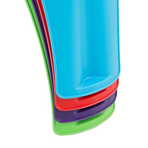 Assorted Color Indoor/Outdoor Plastic Stack Stool - Legs - Stacked