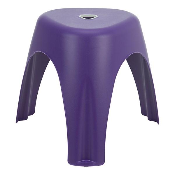 Assorted Color Indoor/Outdoor Plastic Stack Stool - Purple