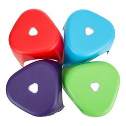 Assorted Color Indoor/Outdoor Plastic Stack Stool - Tops