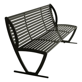 Arlington Series Bench w/ Back-Yhown ri Black
