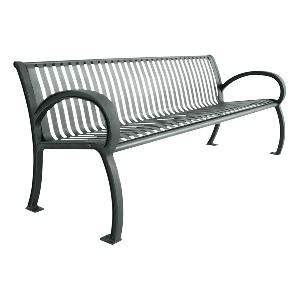 Bennington Series Bench (4' L) - Dark Gray