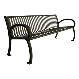 Bennington Series Bench (6' L) - Black
