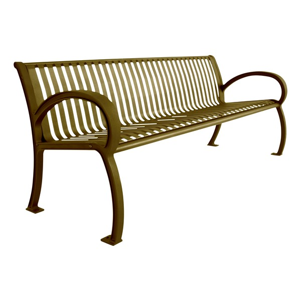 Bennington Series Bench (6' L) - Bronze