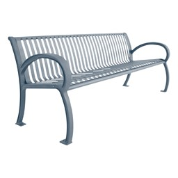 Bennington Series Bench (8' L) - Silver