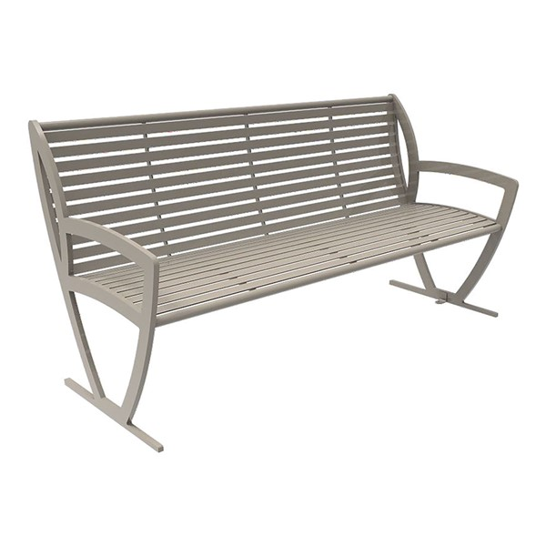 Arlington Series Bench w/ Back-Yhown ri Beige