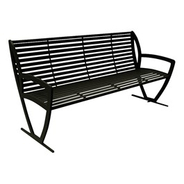 Arlington Series Bench w/ Back-Yhown ri Black
