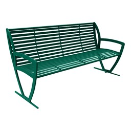 Arlington Series Bench w/ Back-Yhown ri Gn