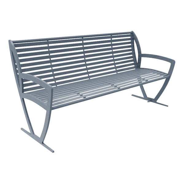 Arlington Series Bench w/ Back-Yhown ri Silv