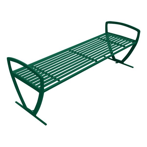 Arlington Series Bench w/o Back-Yhown ri Grn