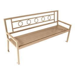 Evanston Series Bench w/ Back - Metallic
