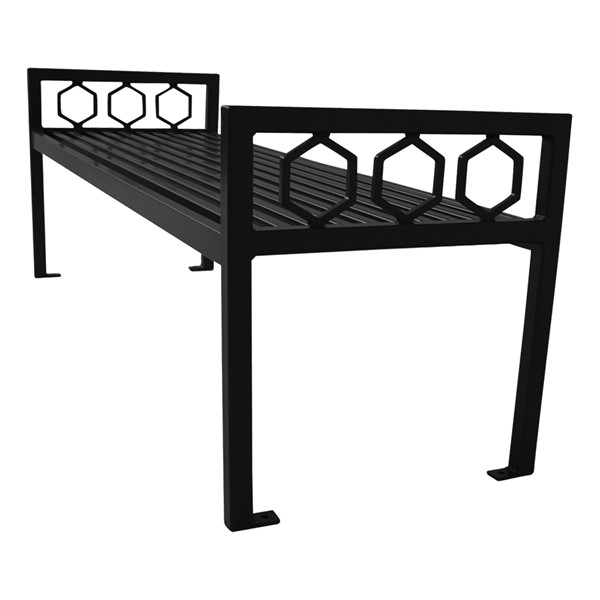 Evanston Series Bench w/o Back - Black
