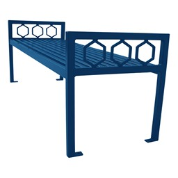 Evanston Series Bench w/o Back - Blue