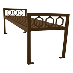 Evanston Series Bench w/o Back-Yhown ie Furniture\Nor-Yal1171-Brown