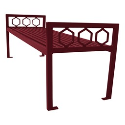 Evanston Series Bench w/o Back - Burgundy