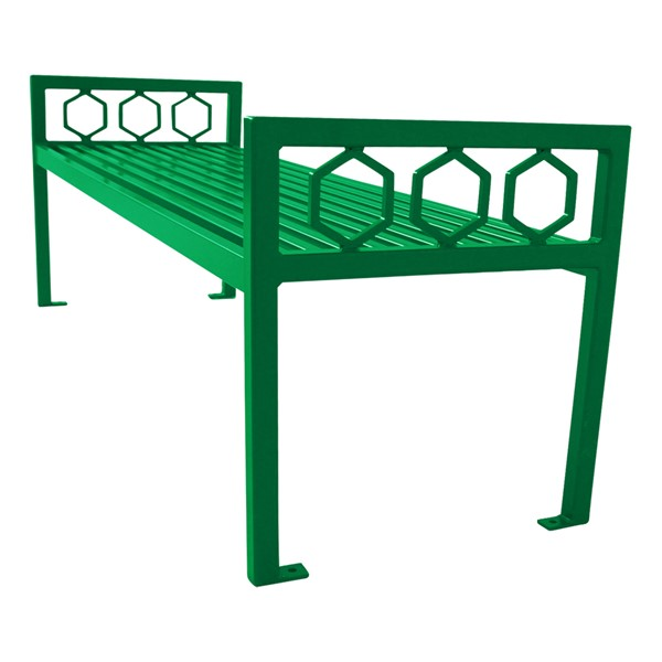 Evanston Series Bench w/o Back - green
