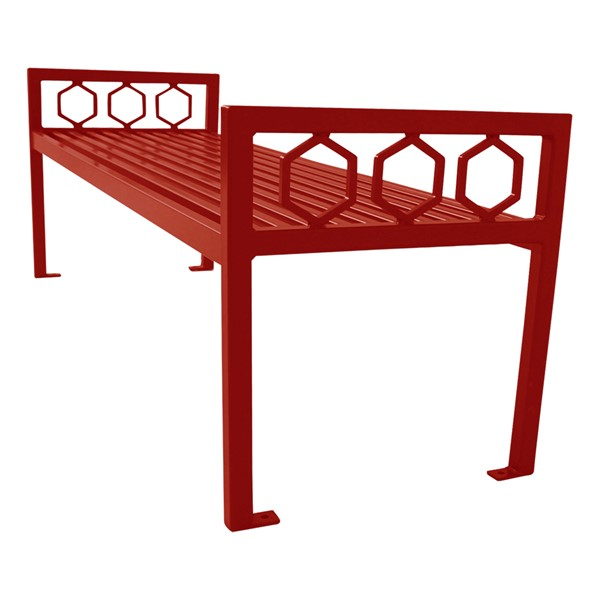 Evanston Series Bench w/o Back - Red