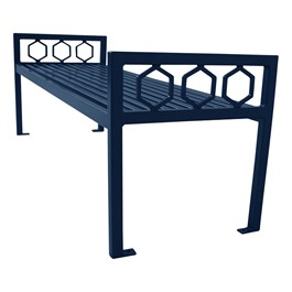 Evanston Series Bench w/o Back - Navy