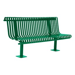 Addington Series Bench w/ Back - Green