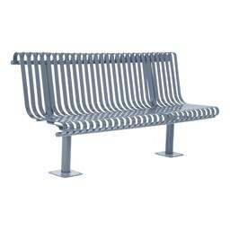 Addington Series Bench w/ Back - Metallic