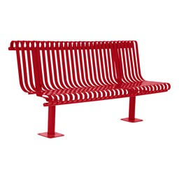 Addington Series Bench w/ Back - Red