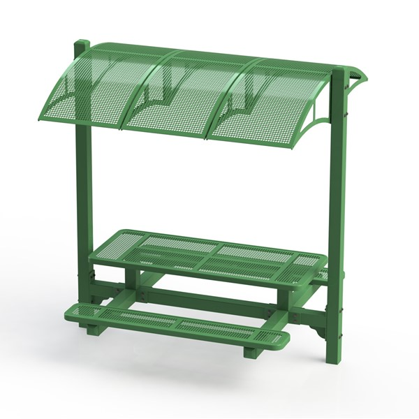 Canopy Picnic Table w/ Round Perforation