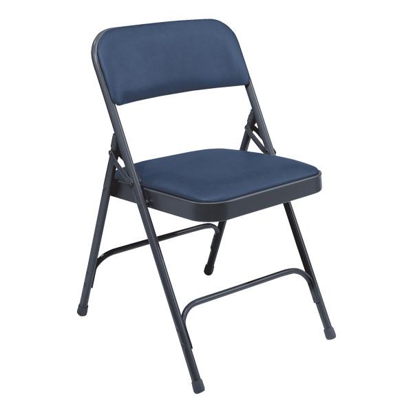 1200 Series Vinyl Upholstered Folding Chair - Blue