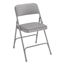 1200 Series Vinyl Upholstered Folding Chair - Gray