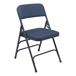 1300 Series Vinyl-Upholstered Premium Folding Chair - Blue