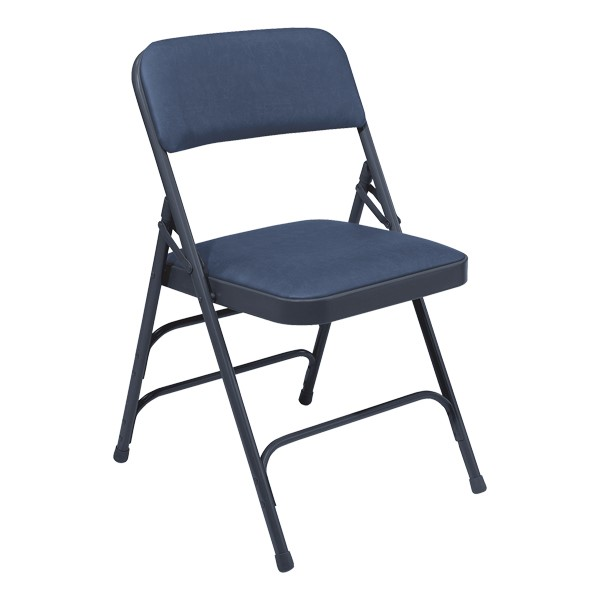1300 Series Vinyl-Upholstered Premium Folding Chair - Blue
