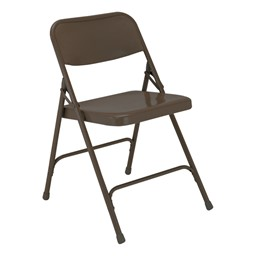 200 Series Steel Folding Chair - Brown