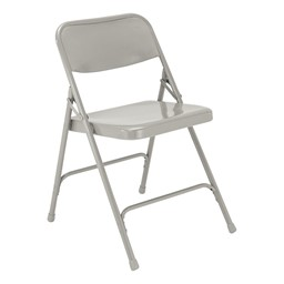 200 Series Steel Folding Chair - Gray