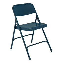 200 Series Steel Folding Chair - Charcoal Blue