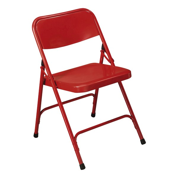 200 Series Steel Folding Chair - Red