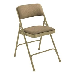 2200 Series Fabric Upholstered Folding Chair - Beige fabric & frame