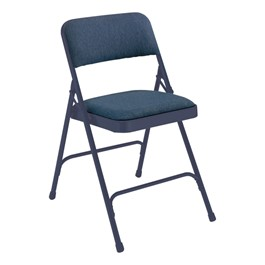 2200 Series Fabric Upholstered Folding Chair - Blue fabric & frame