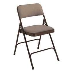 2200 Series Fabric Upholstered Folding Chair - Walnut fabric & brown frame
