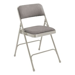 2200 Series Fabric Upholstered Folding Chair - Gray fabric & frame