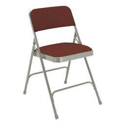 2200 Series Fabric Upholstered Folding Chair - Cabernet fabric & gray frame