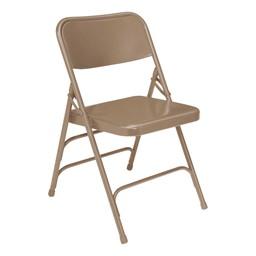 300 Series Triple-Brace Steel Folding Chair - Beige
