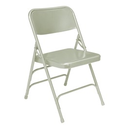 300 Series Triple-Brace Steel Folding Chair - Gray