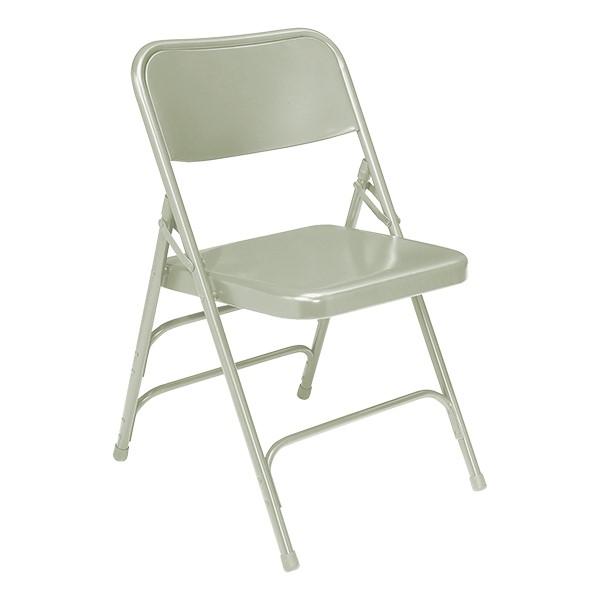 300 Series Triple-Brace Steel Folding Chair - Gray